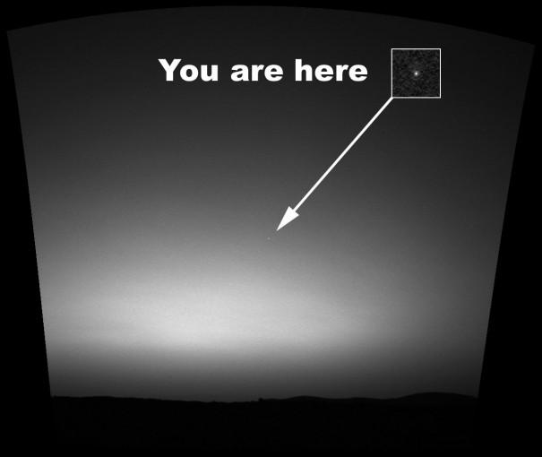 Earth From Mars Credit: NASA/JPL/Cornell/Texas A&M