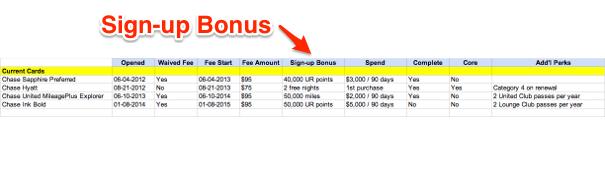 Sign-up Bonus